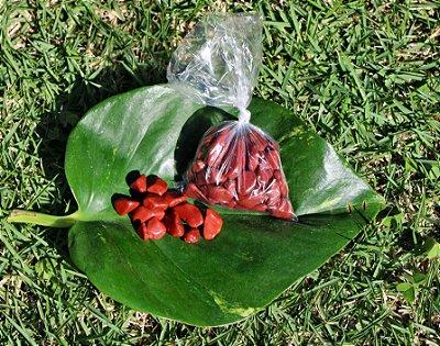 Saco de 100 gramas de  Jaspe Vermelho  - Signo de Touro