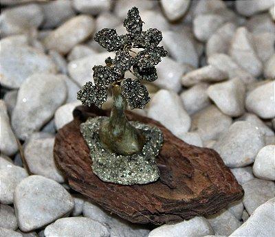 Árvore mini de Pedra Pirita