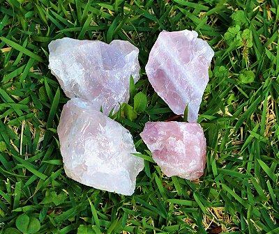 Mini Quartzo Rosa Pedra Bruta  gramas