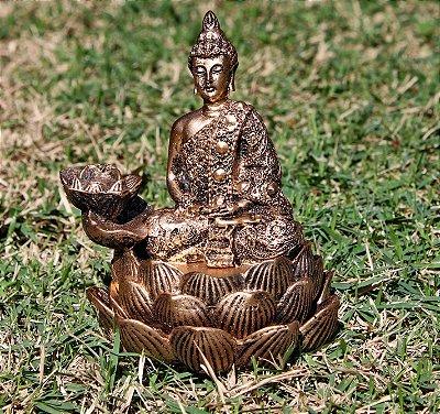 Incensário Cascata Buda Lótus