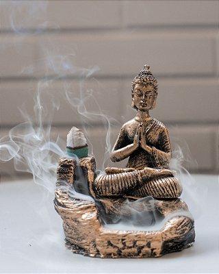 Incensário Cascata Buda Meditando