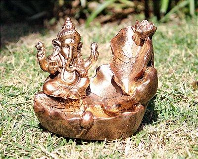 Incensário Cascata Ganesha Folha