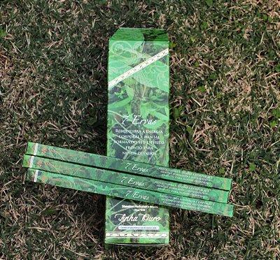 Incenso de 7 ervas  - Unitário (reequilibra a energia corporal e mental)