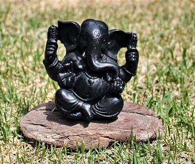 Ganesha Preto  (Produto Indiano )