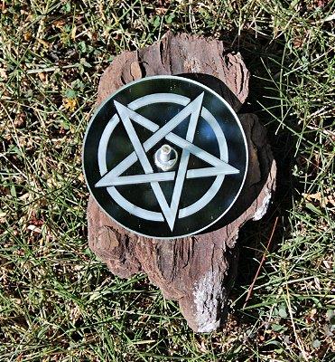 Incensário Espelhado Pentagrama