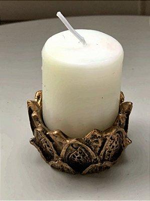 Vela Branca flor de lótus
