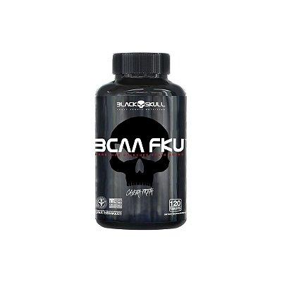 BCAA FKU (120 Tabs) Caveira Preta - Black Skull