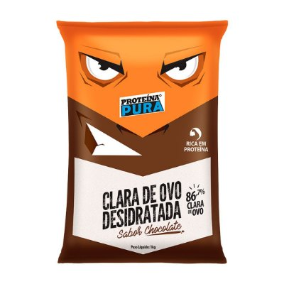 Clara de Ovo Desidratada Proteína Pura Saborizada (1kg) - Netto Alimentos