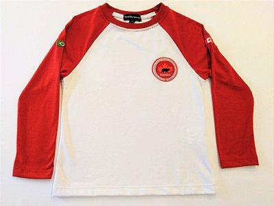 Maple Bear Fundamental - Camiseta Manga Longa Branca - Masculina - Ref.102