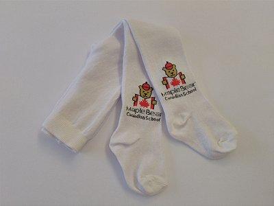 Maple Bear Infantil - Meia Calça - Branca - Ref.140