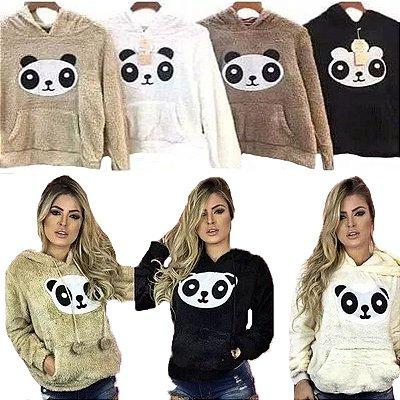 Blusa Panda Pelúcia