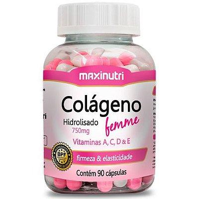 Colágeno Femme com Vitaminas A, C, D e E - 90caps - Maxinutri