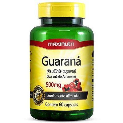 Guaraná 500mg 60 cápsulas - Maxinutri
