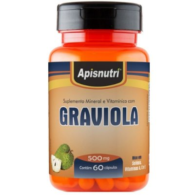 Graviola 60 cápsulas de 500mg - Apisnutri