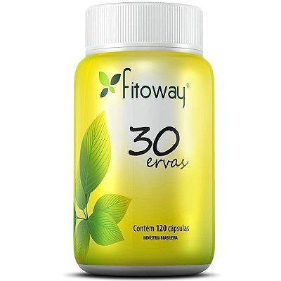 Chá 30 Ervas 120 cápsulas - Fitoway