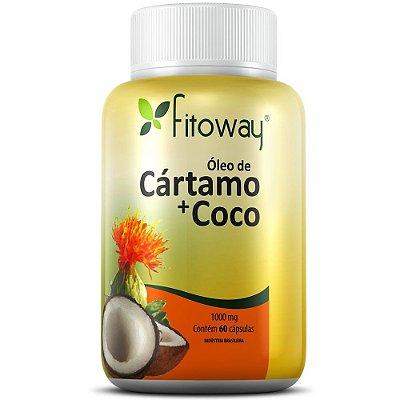 Óleo de Cártamo + Coco 60 cápsulas - Fitoway