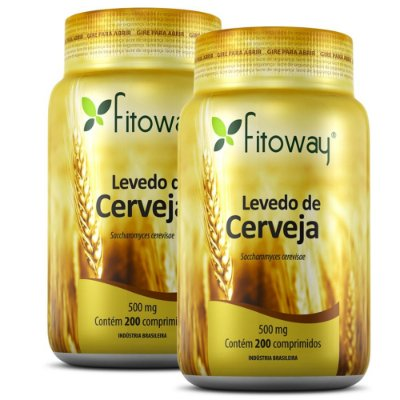 Kit 2x Levedo de Cerveja 200 comprimidos - Fitoway