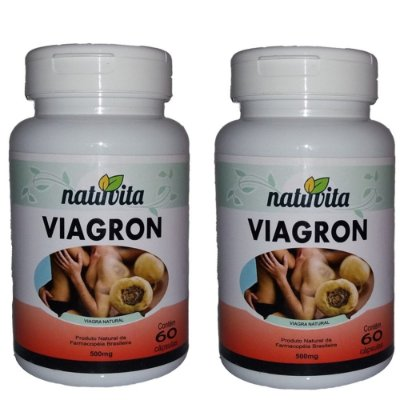 Kit com 2 Viagron Estimulante Sexual Natural - Total 120 cápsulas