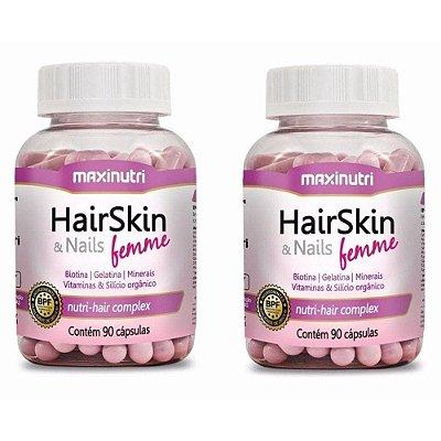 2x HairSkin & Nails Femme 90 Cápsulas - Maxinutri