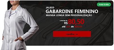 Jaleco Gabardine Feminino - Manga Longa sem Personalização