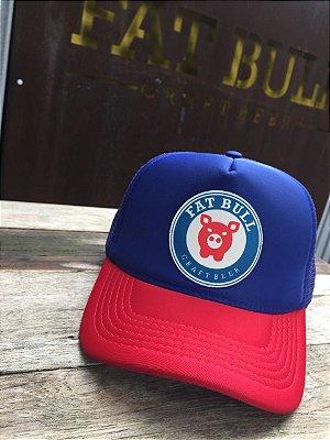 Produtos relacionados. Boné Fat Bull Trucker Azul Marinho   Vermelho 123048dfe59