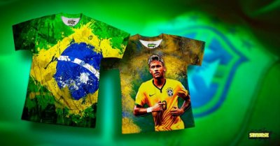 Camiseta o Heroi do Hexa, vai Brasil!