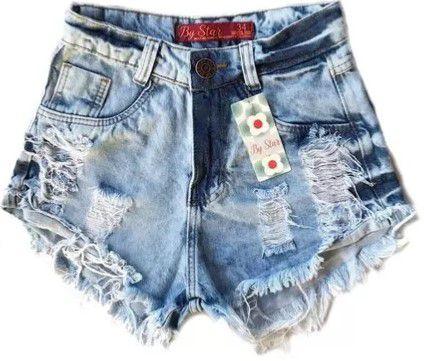 c12964f55 Shorts Jeans Feminino Destroyed Hot Pants Estilo Anitta - 1 Cor