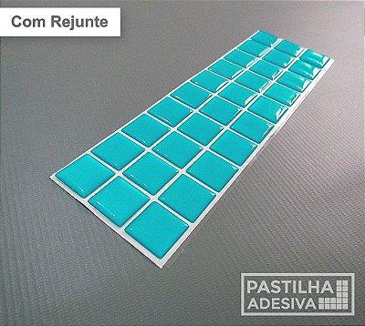 Faixa Pastilha Adesiva Resinada 27x8 cm - AT01 - Azul