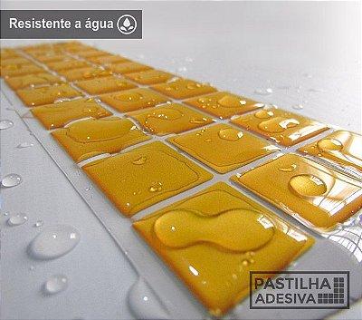 Faixa Pastilha Adesiva Resinada 27x8 cm - AT06 - Amarelo