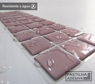 Faixa Pastilha Adesiva Resinada 27x8 cm - AT09 - Rosa
