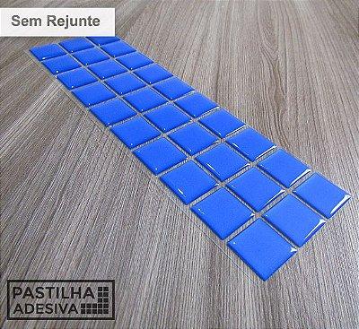 Faixa Pastilha Adesiva Resinada 27x8 cm - AT12 - Azul