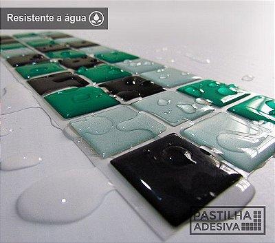 Faixa Pastilha Adesiva Resinada 27x8 cm - AT015 - Verde
