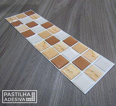 Faixa Pastilha Adesiva Resinada 27x8 cm - AT017 - Marrom