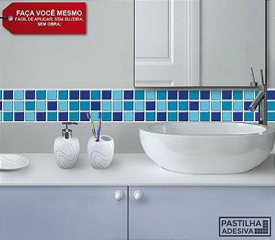 Faixa Pastilha Adesiva Resinada 27x8 cm - AT025 - Azul
