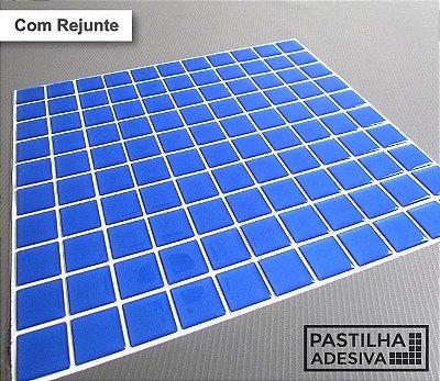 Placa Pastilha Adesiva Resinada 30x27 cm - AT035 - Azul