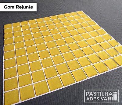 Placa Pastilha Adesiva Resinada 30x27 cm - AT042 - Amarelo