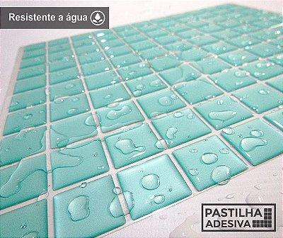 Placa Pastilha Adesiva Resinada 30x27 cm - AT044 - Verde