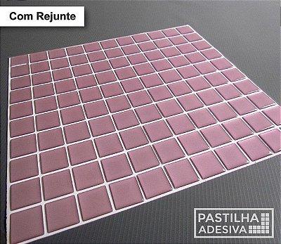 Placa Pastilha Adesiva Resinada 30x27 cm - AT045 - Rosa