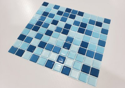 Placa Pastilha Adesiva Resinada 30x27 cm - AT046 - Azul