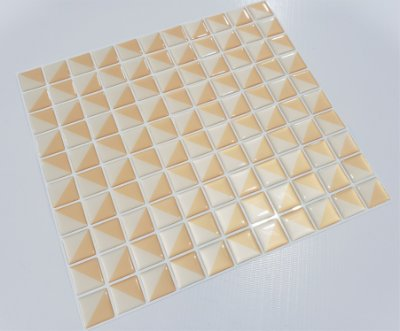 Placa Pastilha Adesiva Resinada 30x27 cm - AT051 - Creme