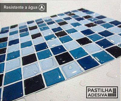 Placa Pastilha Adesiva Resinada 30x27 cm - AT059 - Azul