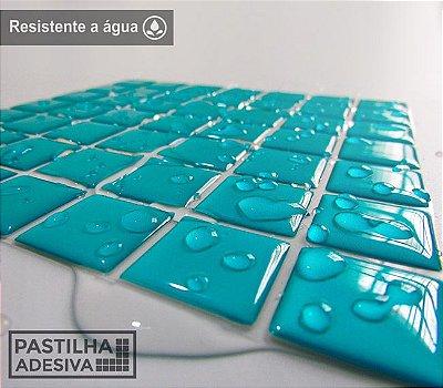 Placa Pastilha Adesiva Resinada 18x18 cm - AT065 - Verde