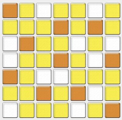 Placa Pastilha Adesiva Resinada 18x18 cm - AT090 - Amarelo