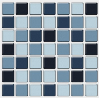 Placa Pastilha Adesiva Resinada 18x18 cm - AT091 - Azul