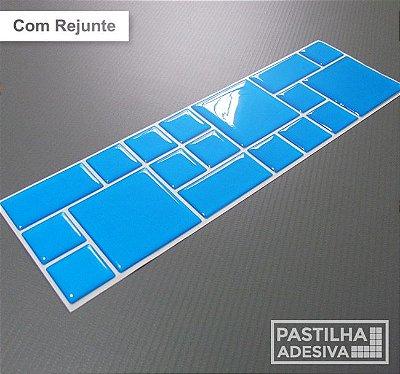 Faixa Mosaico Adesiva Resinada 27x8 cm - AT97 - Azul