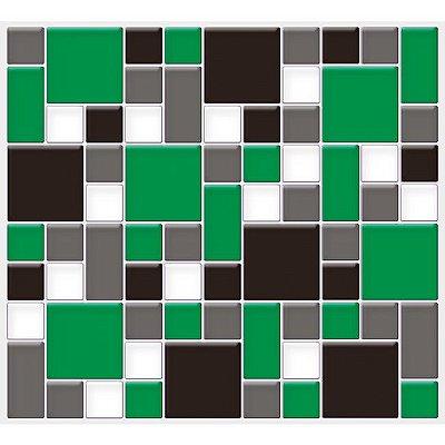Placa Mosaico Adesiva Resinada 30x27 cm - AT137 - Verde