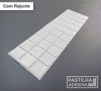 Faixa Pastilha Adesiva Resinada 27x8 cm - AT166 - Branco