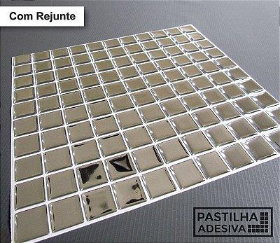 Placa Pastilha Adesiva Resinada 30x27 cm - AT171 - Espelhada