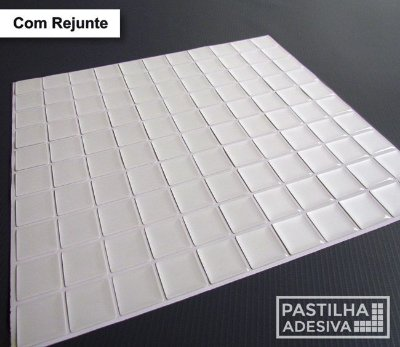 Placa Pastilha Adesiva Resinada 30x27 cm - AT172 - Branco