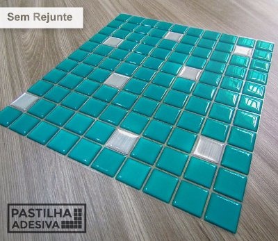 Placa Pastilha Adesiva Resinada 30x27 cm - AT176 - Verde